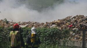 Pożar składowiska odpadów na Radiowie. Płonęły gabaryty