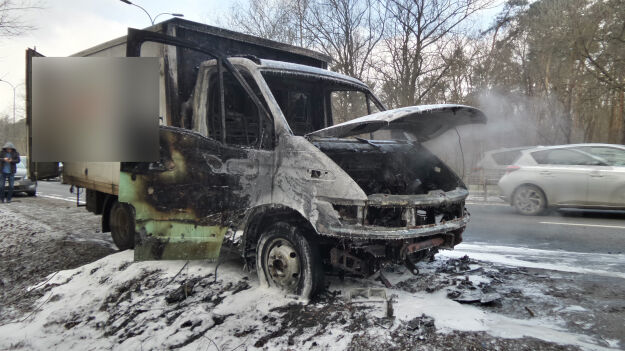 """Pożar samochodu na Czecha. """"Niemal doszczętnie spłonął"""""""