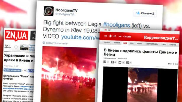 Do bójek kibiców doszło w Kijowie i Lwowie Twitter, korrespondent.net, zn.ua