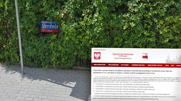 Sąd uchylił zmianę nazw czterech kolejnych ulic Google Street View / WSA