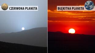 Romantyczny zachód słońca. Na Ziemi czy na Marsie?