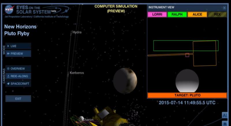 Pluton na kilka sekund przed tym, jak maksymalnie zbliżyła się do niego New Horizons