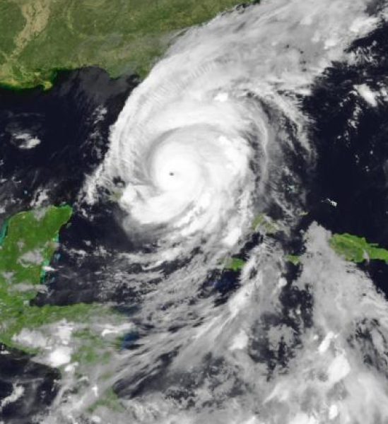 Zdjęcie satelitarne Irmy (Eumetsat)