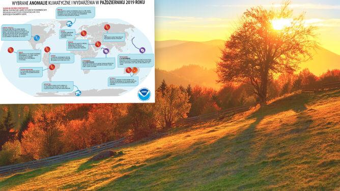To był drugi najcieplejszy październik w historii pomiarów. Do rekordu niewiele zabrakło