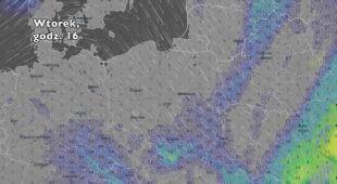Opady w najbliższych dniach (ventusky.com | wideo bez dźwięku)