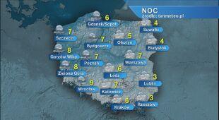 Prognoza pogody na noc 16/17.02