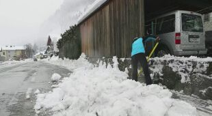 Intensywne opady śniegu w Austrii